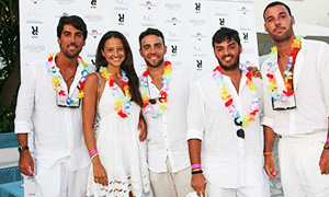 Party total white a Procida